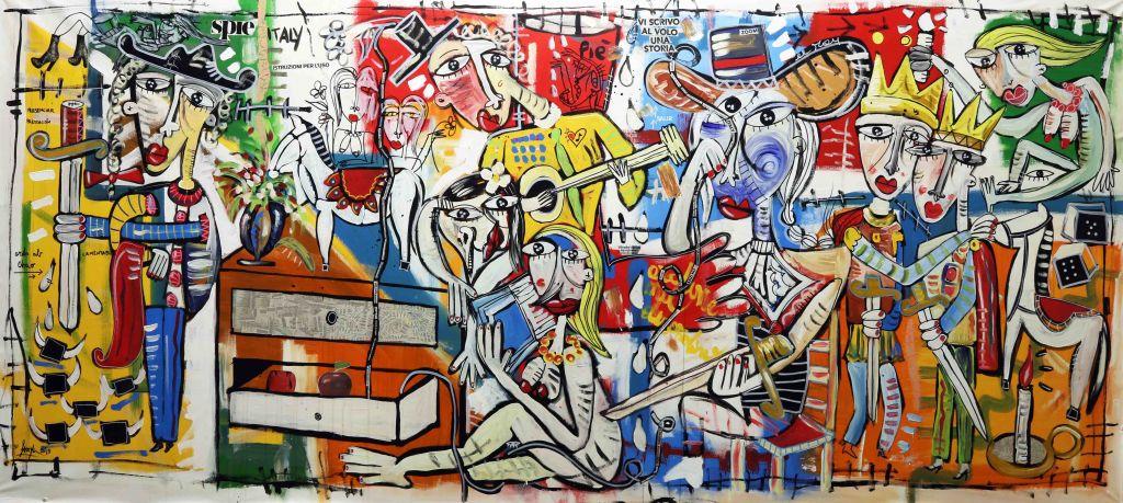 original-large modern paintings-Ordine-nel-disordine-sivigliart