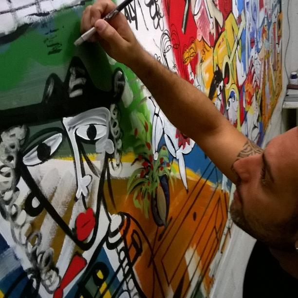 painter at work-contemporary artist-alessandro siviglia