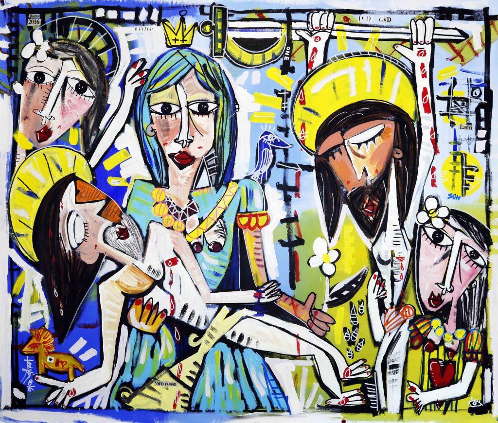 sacred-paintings-original artwork-the deposition-jesus-sivigliart