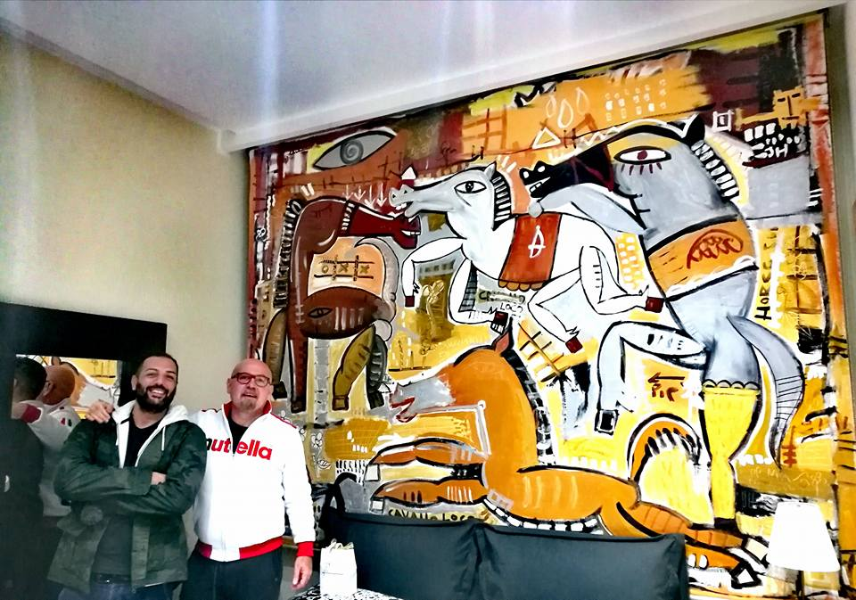 hand painted curtain-artwork modern art-sivigliart