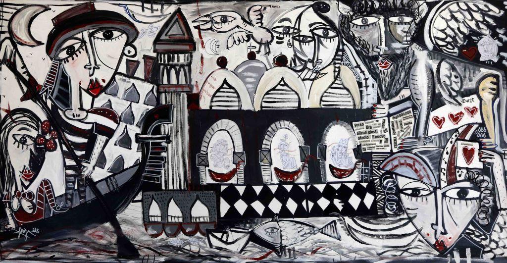 100x200-original artwork-Super-Venice-venezia-city-venice painting